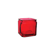 "Cubes 4"" x 4"" x4"" Ruby w/lip 12cs 3059"