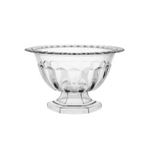 "Abby compote 5"" Crystal 6cs #137"