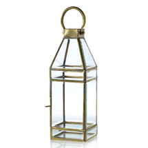 "Glass Lantern 4.5"" x 4.5"" x 13 each"