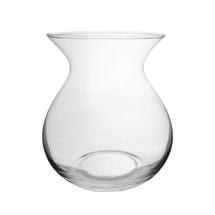 """Lula 7"""" vase clear 6/cs"""
