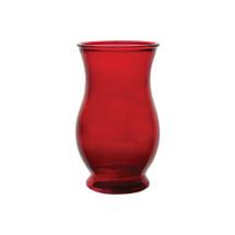 "Regency Vase 7"" Ruby 12cs 3027"