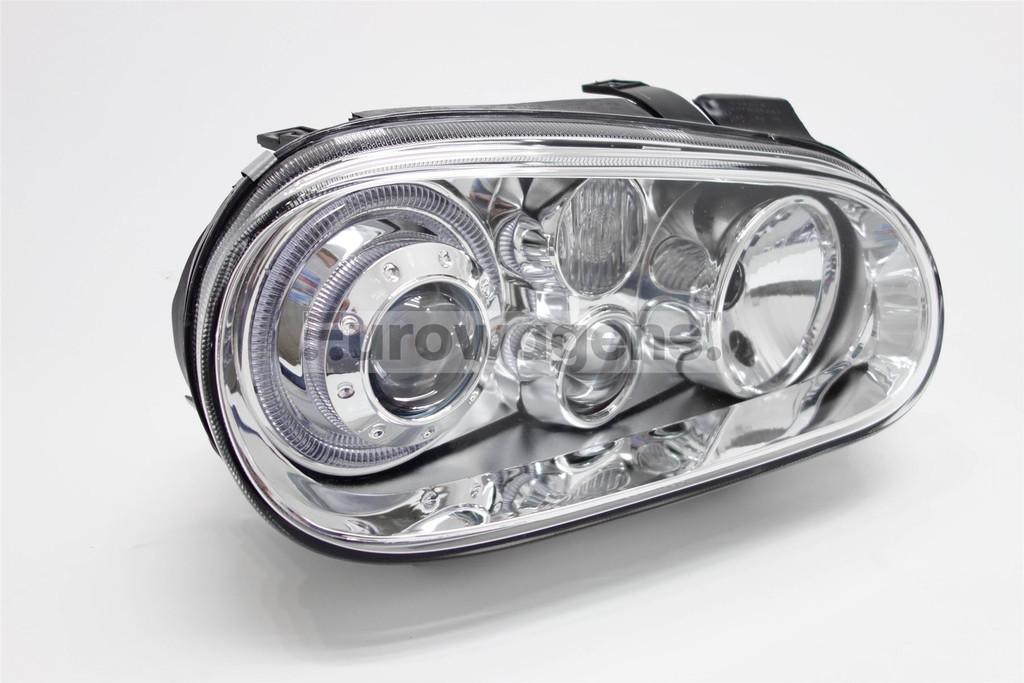 Angel Eyes Set Chrome Twin Halos Vw Golf Mk4 98-04-4256