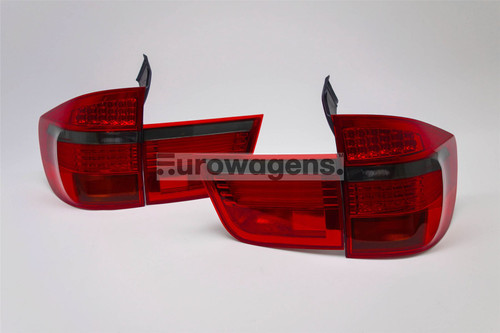 Rear lights set smoked red BMW X5 E70 06-10