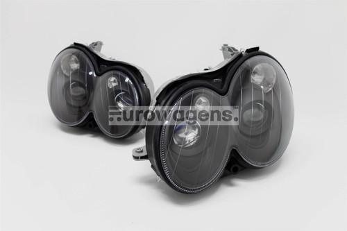 Headlights set black projector Mercedes CLK W209 03-08
