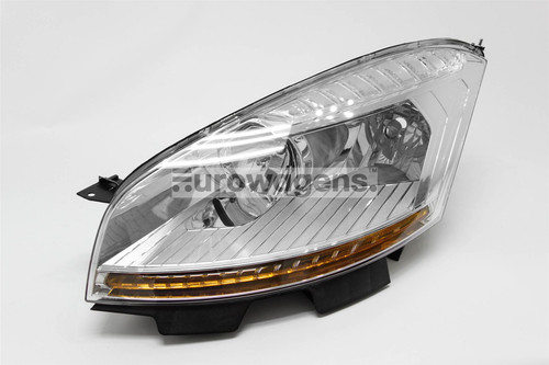 Headlight left Citroen C4 Picasso 07-10