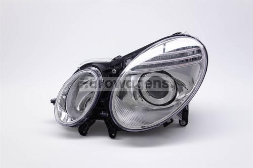 Headlight left chrome Mercedes E Class W211 06-08