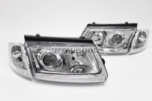 Headlights set chrome projector look VW Passat B5 97-00