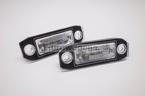 Number plate lights set LED Volvo C70 V60 S60 V70 V50 S40 V40 S80 XC70 XC90