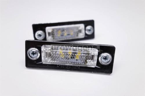 Number plate lights set LED Skoda Superb 02-08