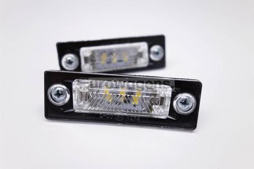 Number plate lights set LED VW Caddy Passat Golf Jetta Transporter Touran