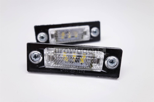 Number plate lights set LED VW Caddy Passat Golf Jetta Transporter Touran