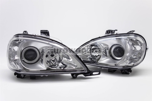 Chrome headlights set Mercedes-Benz ML W163 98-01
