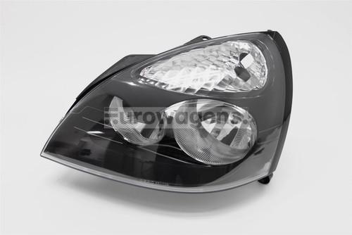 Headlight left black Renault Clio MK2 01-05