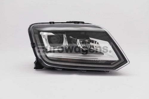 Headlight right black bi xenon LED DRL VW Amarok 14-16