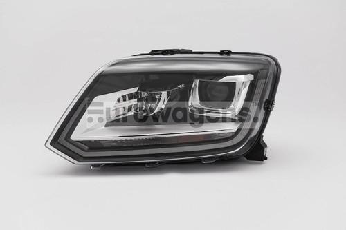 Headlight left black bi xenon LED DRL VW Amarok 14-16