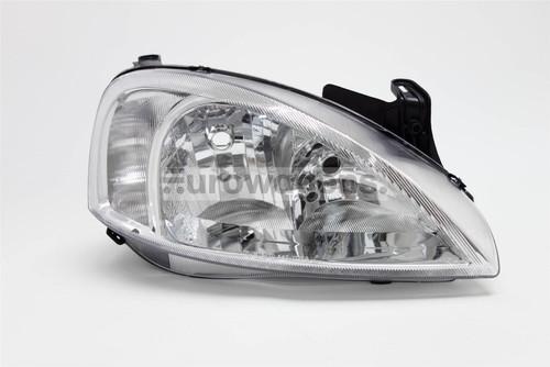 Headlight right chrome Vauxhall Corsa Combo MK2