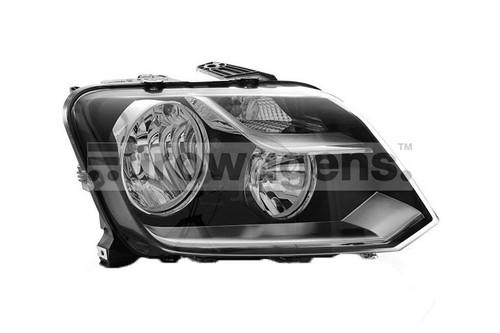 Headlight right black VW Amarok 13-16