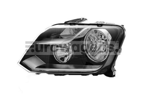 Headlight left black VW Amarok 13-16