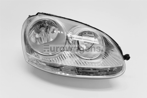 Headlight right chrome VW Golf MK5 GTI Jetta MK3