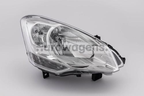 Headlight right Citroen Berlingo 08-11