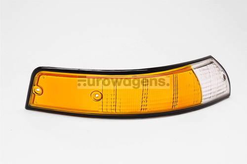 Front indicator lens right orange black rim Porsche 911 67-74