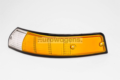 Front indicator lens left orange black rim Porsche 911 67-74