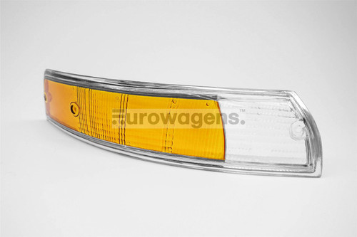 Front indicator lens right clear orange chrome rim Porsche 911 67-74