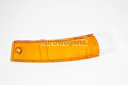 Front indicator lens right orange clear Porsche 911 65-68
