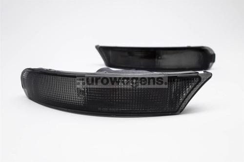 Front bumper indicators set black Subaru Impreza 93-98 Estate