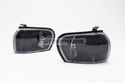 Front indicators set crystal black Subaru Impreza 93-98