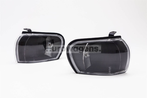 Front indicators set crystal black Subaru Impreza 93-98