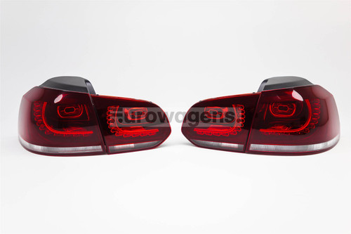 Rear lights set dark red R Line LED VW Golf MK6 09-12