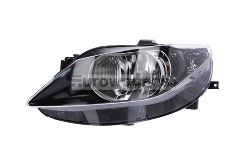 Headlight left black Seat Ibiza 08-11