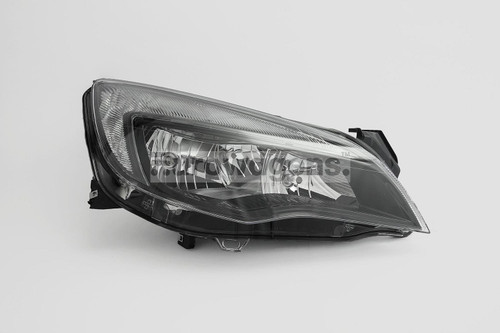 Headlight right black DRL Vauxhall Astra J MK6 10-12