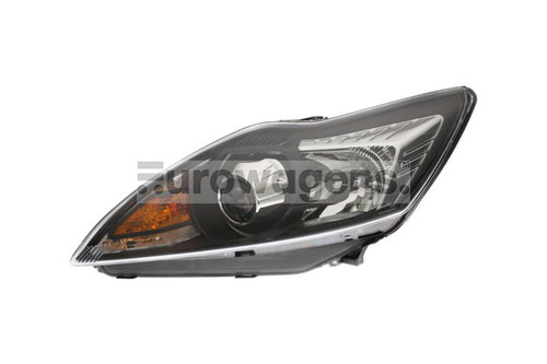 Headlight black left Bi-Xenon LED DRL AFS Ford Focus MK2 08-10
