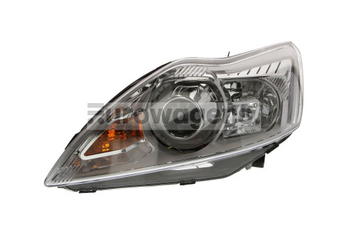 Headlight left Bi-xenon chrome LED DRL AFS Ford Focus MK2 08-10