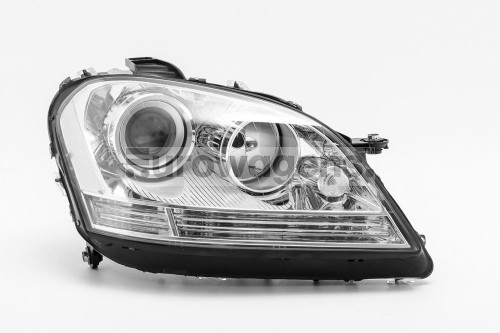 Headlight right projector chrome Mercedes Benz M Class W164 08-11