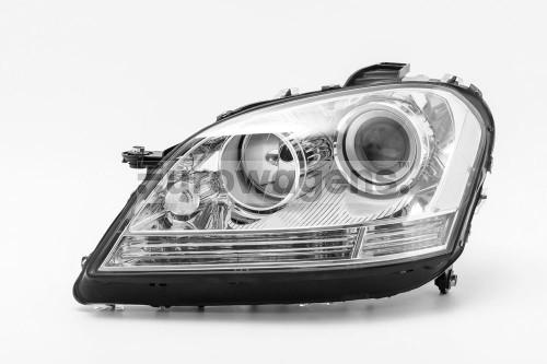 Headlight left projector chrome Mercedes Benz M Class W164 08-11