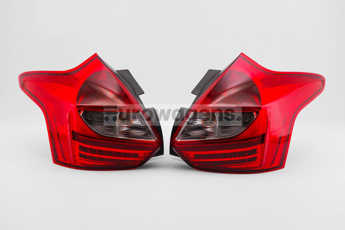 Rear lights set clear red LED Ford Focus MK3 11-15 Upgrade
