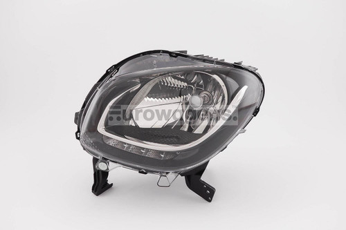 Headlight left black LED DRL Smart ForFour Highline 15-17