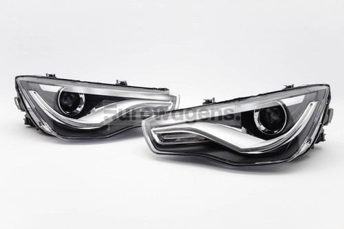 Headlights set xenon look Audi A1 10-14