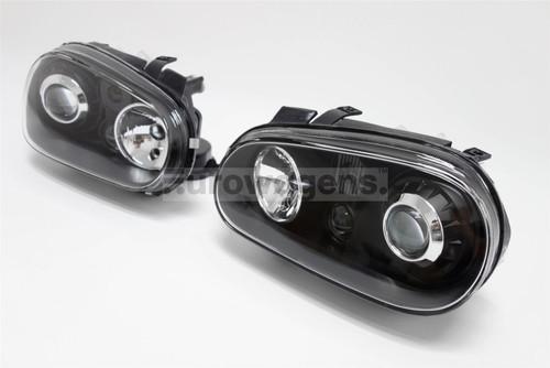 Headlights set black projector VW Golf MK4 97-04