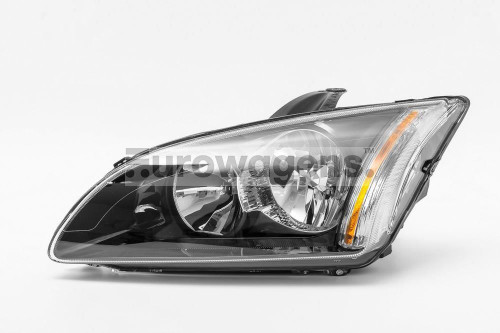 Headlight black left Ford Focus MK2 05-07