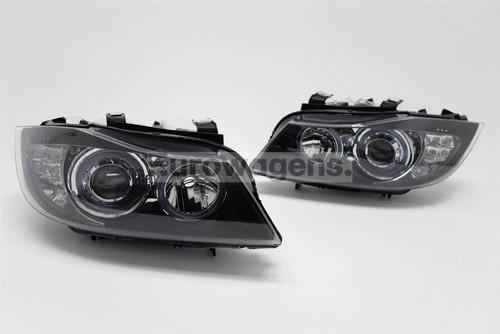 Angel eyes headlights set LED BMW 3 Series E90 05-08 Saloon/Estate