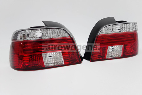 Rear lights set crystal clear/red BMW 5 Series E39 96-00