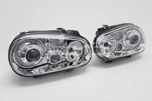 Angel eyes set chrome twin halos VW Golf MK4 98-04