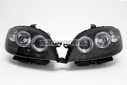 Angel eyes headlights set black Citroen Saxo 99-03