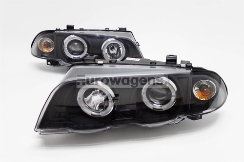 Angel eyes headlights set BMW 3 Series E46 98-01 4/5 door