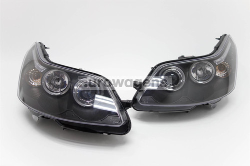 Angel eyes headlights set black Citroen C4 04-11