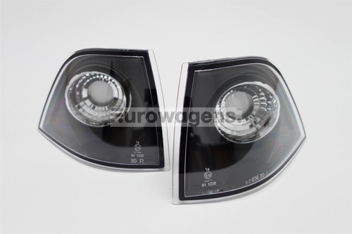 Front indicators set crystal black BMW 3 Series E36 92-98